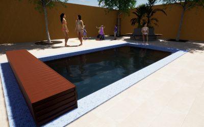 Deck para Piscina – Linha Modular Standard